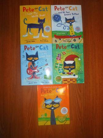 Photo Pete the Cat books - $40 (Eugene)