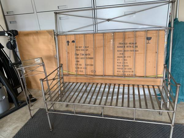 Photo Pier One bed, bench and side table set - $500 (Coburg)
