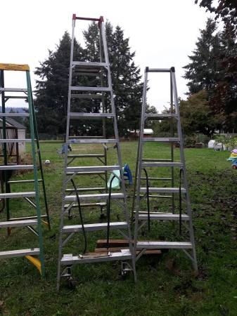 Photo Variety of Werner Ladders, 10 ft, 8 ft, 6 ft. - $100 (C creek Springfield)