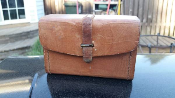 Photo Vintage Leather Fly Fishing Lure Tackle Box - $140 (Junction City)
