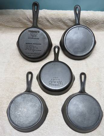 Photo Cast Iron Skillets - C Cookware - $35 (Eugene)