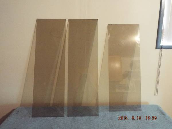Photo Smoked Tinted and Clear Glass Shelves ( Tempered )  - $15 (Eugene Or. (River Rd  Belt Line area))