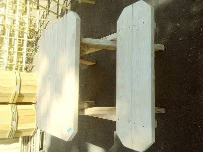 Photo cedar picnic table 4 ft - $240 (Dallas)