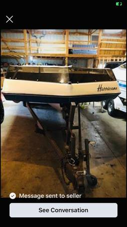 Photo 1987 Hurricane deck boat - $3,000 (Evansville)