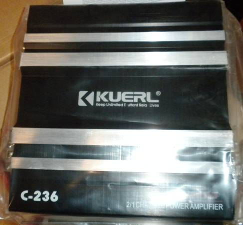Photo Brand NIB KUERL C-236 3800W Two-Channel 12V Power CAR Audio AMPLIFIER - $75 (Chandler, IN)
