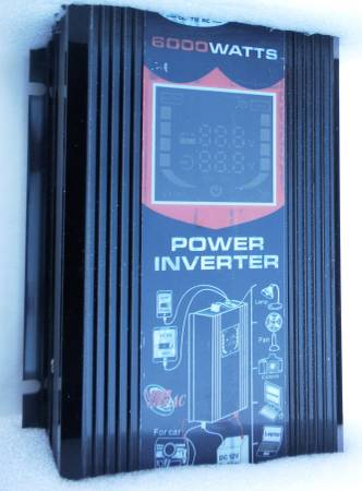 Photo Brand NIB Set of TWO (2) 6000 Watt DC 12V to AC 110 POWER INVERTERS - $50 (Chandler, IN)