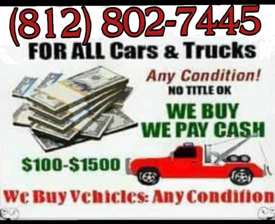 Photo Buying vehicles, Wrecked, Running or Not - $200 (Tri-state)
