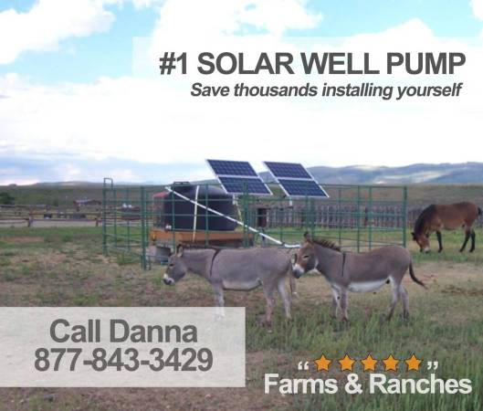 Photo Low cost and readily available 3 dia 18v-450v solar deep well pump - $1,550 (allindiana)