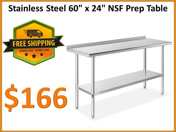 Photo NSF Stainless Steel Sink Wall Hand Sink - FREE Shipping - $104 (Tamarac)