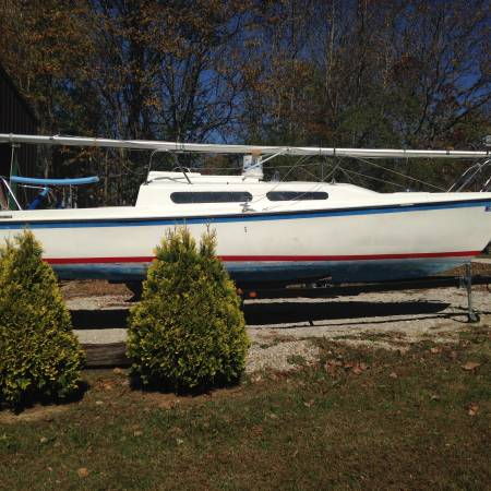 Photo Sailboat and Trailer - $1,500 (Evansville, IN)