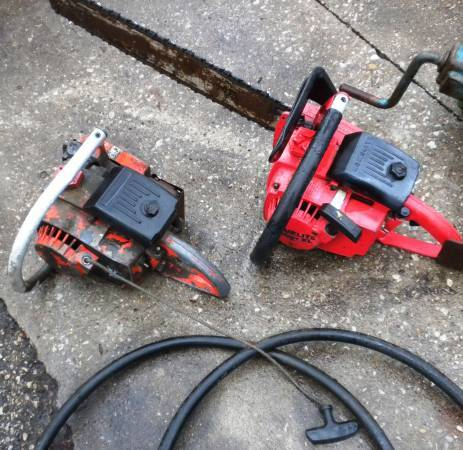 Photo Vintage HOMELITE Super XL CHAIN SAWS -- Set of Two (2) - $75 (Chandler)