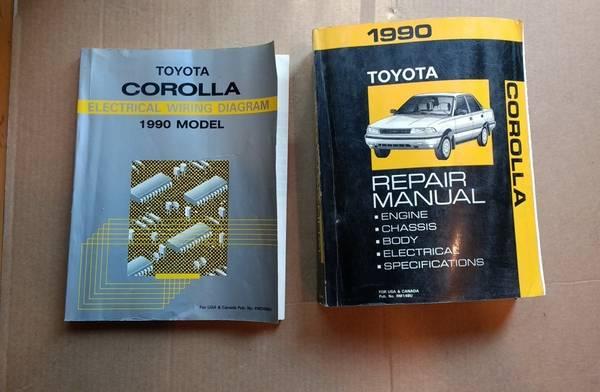 Photo 1990 Toyota COROLLA Shop Manual Set and Electrical wiring manual - $55 (Fairbanks)
