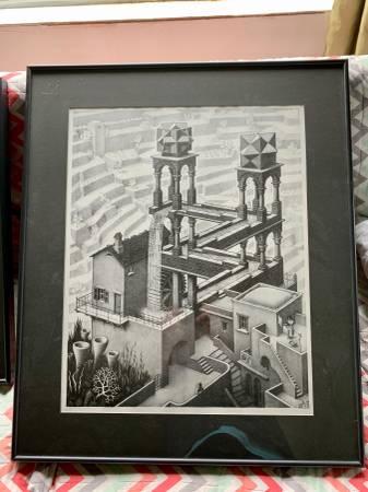Photo 2 MC ESCHER quality lithographs - professional framing - $150 (Anchorage)