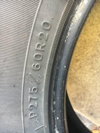 Photo 2 - Goodyear Wrangler SR -A 27560R20 All Season tires (College Village)