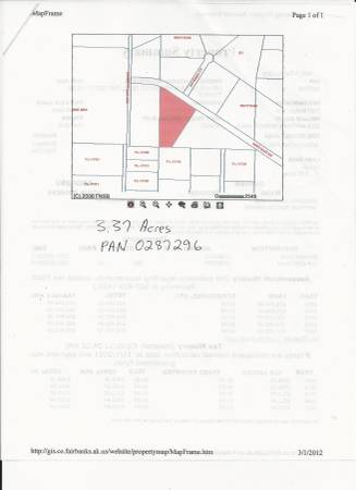 Photo 3.37 Acre Lot in Outskirts of North Pole, AK (North Pole, AK)