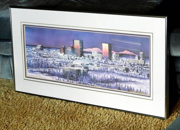 Photo Anchorage Skyline Northern City Lights Print Mark Mcdermott - $100 (Anchorage)