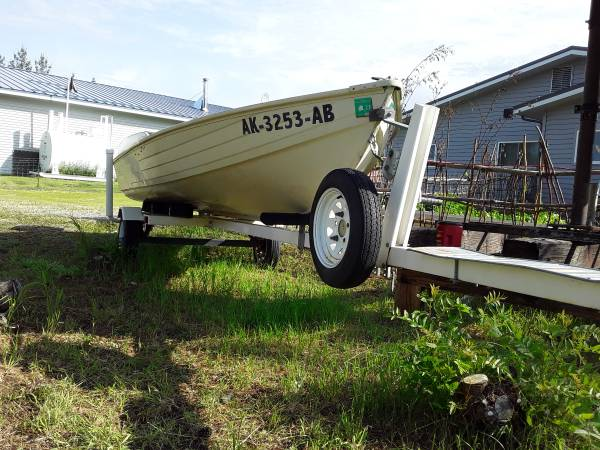 Photo Boat and trailer and motor for sale - $3,700 (Tok)