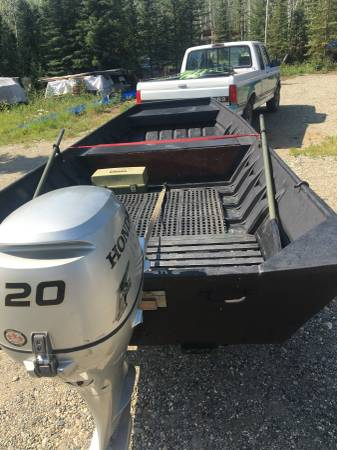 Photo Honda 20HP 16ft by 6ft Rhyan Craft flat bottom 5 person boat - $4500 (Delta)