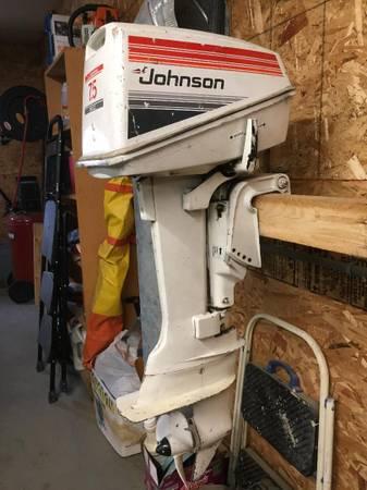 Photo Johnson 7.5 HP long shaft outboard. - $750 (Tok)