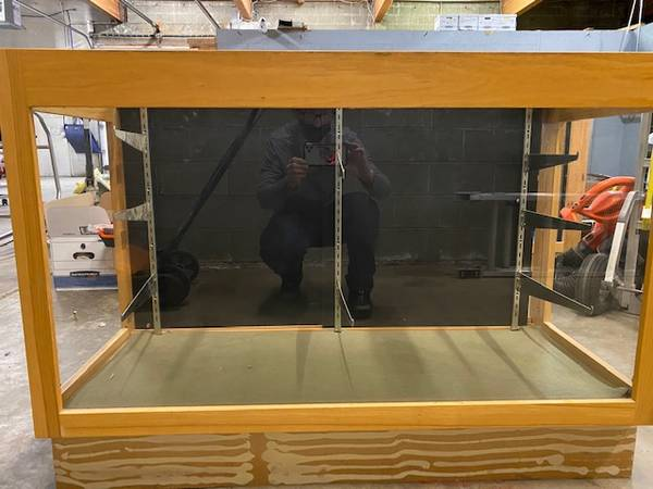 Photo Retail Display Cabinets (2) - Oak - $500 (Anchorage)