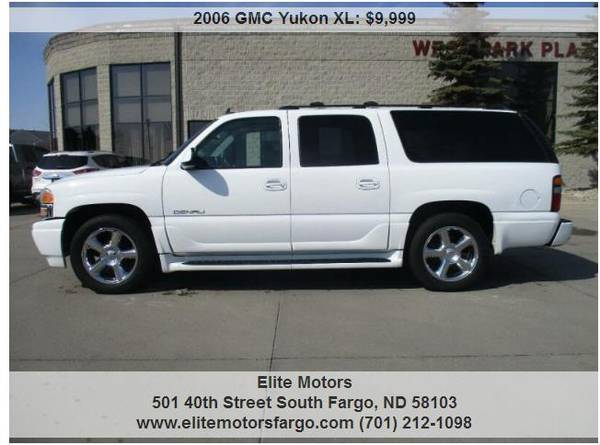 Photo 2006 GMC Yukon XL Denali, AWD, Leather, Buckets, Sun, Rear Ent., 140K - $9999 (Elite Motors Fargo)