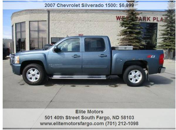 Photo 2007 Chevrolet Silverado, Crew Cab, LTZ, Leather, Loaded, Local Trade - $6999 (Elite Motors Fargo)