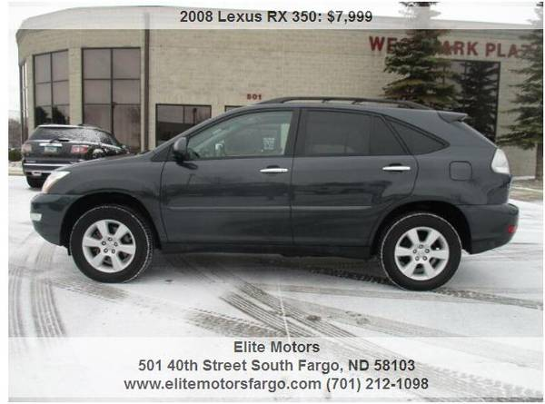Photo 2008 Lexus RX350 AWD, Leather, Sun, Beautiful - $7999 (Elite Motors Fargo)