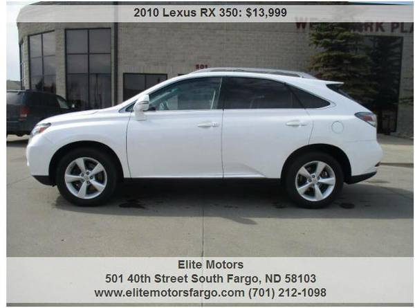 Photo 2010 Lexus RX350 AWD, Leather, Sun, Nav, 98K, Beautiful - $13999 (Elite Motors Fargo)
