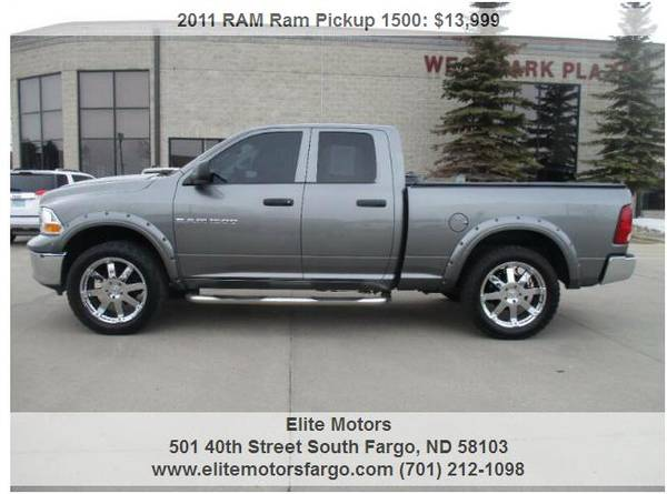 Photo 2011 Dodge Ram, Quad Cab, 4x4, 22quot Wheels, Sharp 94K - $13999 (Elite Motors Fargo)
