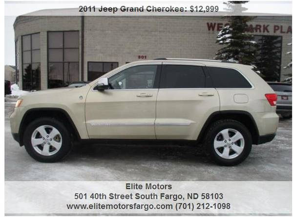 Photo 2011 Jeep Grand Cherokee Laredo X, Leather, 5.7L Hemi, Sharp - $12999 (Elite Motors Fargo)
