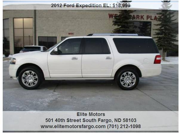 Photo 2012 Ford Expedition EL, Limited, Leather, Buckets, Nav, Sun, 80K - $18999 (Elite Motors Fargo)
