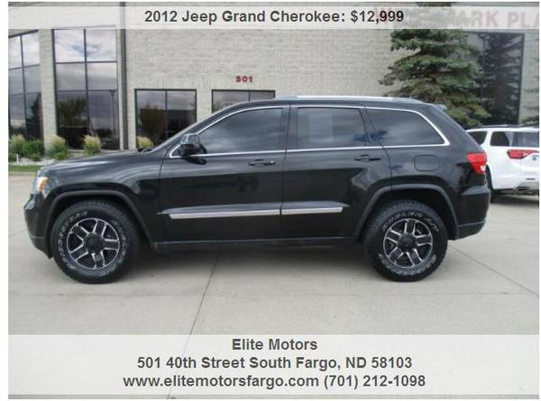 Photo 2012 Jeep Grand Cherokee, 4x4, Custom Wheels, Beautiful - $12,999 (Elite Motors Fargo)