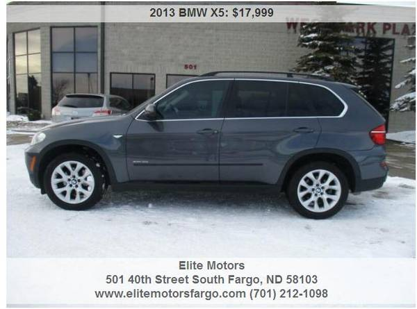 Photo 2013 BMW X5, Xdrive35I, AWD, Leather, Panoramic Sun, Nav, 55K - $17999 (Elite Motors Fargo)