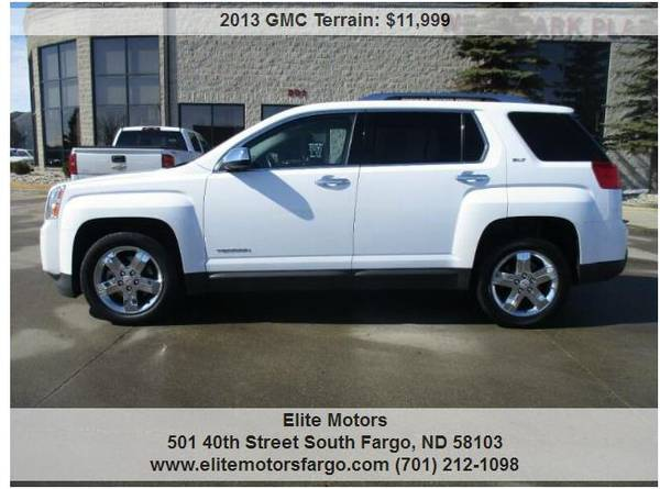 Photo 2013 GMC Terrain SLT-2, Leather, Sun, V6, Beautiful - $11999 (Elite Motors Fargo)