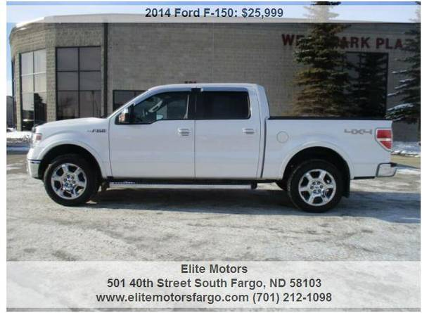 Photo 2014 Ford F-150 Lariat, Crew Cab, Nav, Sun, 2039S, Beautiful - $25999 (Elite Motors Fargo)