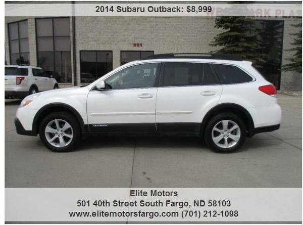 Photo 2014 Subaru Outback 2.5I Premium AWD, Sunroof, Beautiful - $8999 (Elite Motors Fargo)