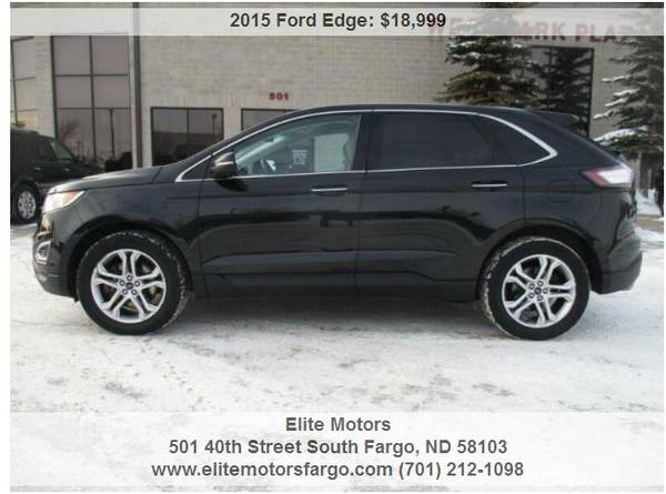 Photo 2015 Ford Edge Titanium, AWD, Leather, Loaded, New Rubber, Sharp - $18999 (Elite Motors Fargo)