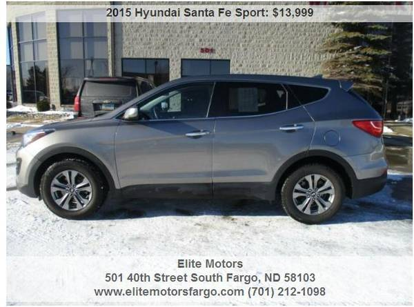 Photo 2015 Hyundai Santa Fe Sport AWD, Beautiful - $13999 (Elite Motors Fargo)