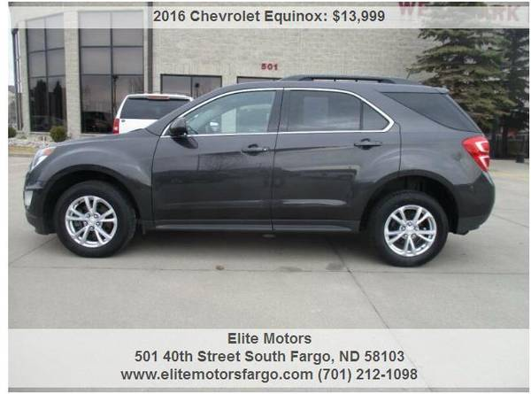 Photo 2016 Chevrolet Equinox, LT, AWD, Htd. Seats, New Rubber - $13999 (Elite Motors Fargo)