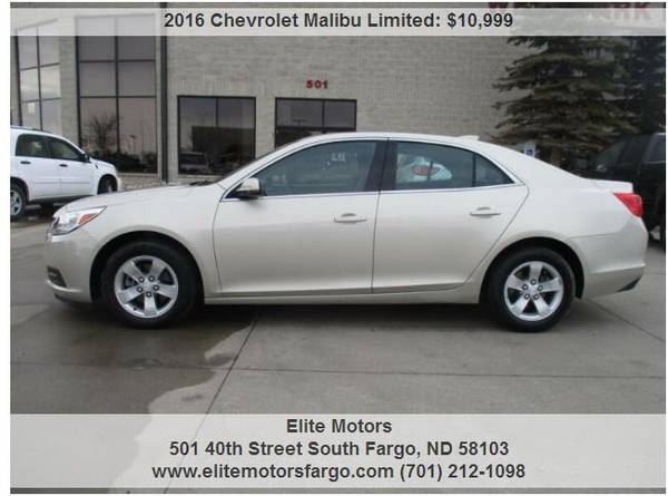 Photo 2016 Chevrolet Malibu Limited, LT, 60K, Sharp - $10999 (Elite Motors Fargo)