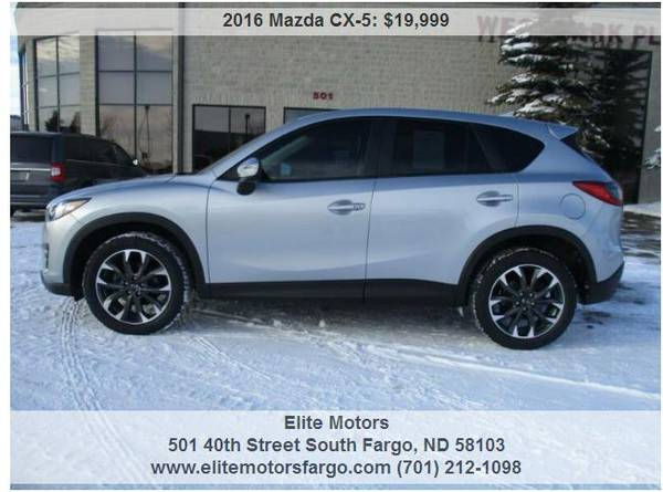 Photo 2016 Mazda CX-5, AWD, Leather, Sun, Nav, Bose, Beautiful - $19999 (Elite Motors Fargo)