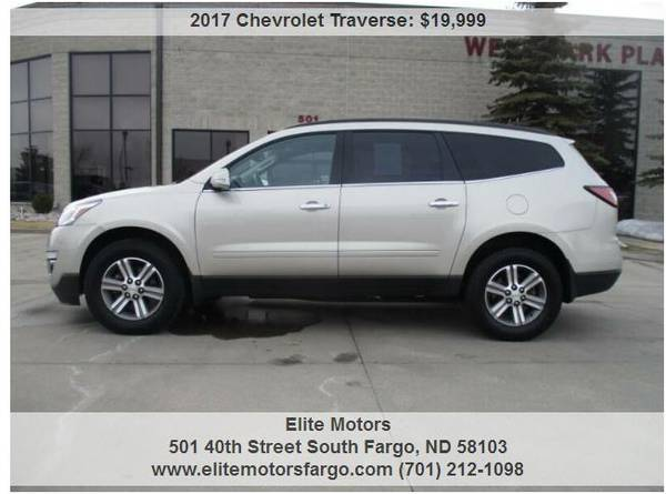 Photo 2017 Chevrolet Traverse LT, Quads, Htd. Seats, 36K, One Owner - $19999 (Elite Motors Fargo)