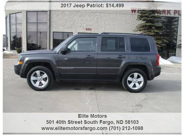 Photo 2017 Jeep Patriot Latitude, 4x4, Heated Seats, Local Trade, Sharp - $14499 (Elite Motors Fargo)