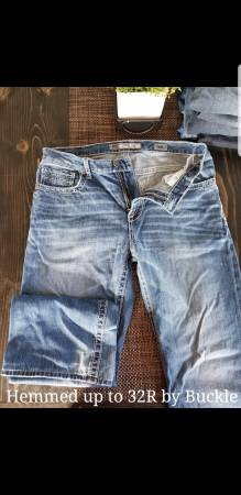 Photo 3 Pairs Mens Jeans 32R,2 BKE, 1 Big Star - $60 (Hawley)