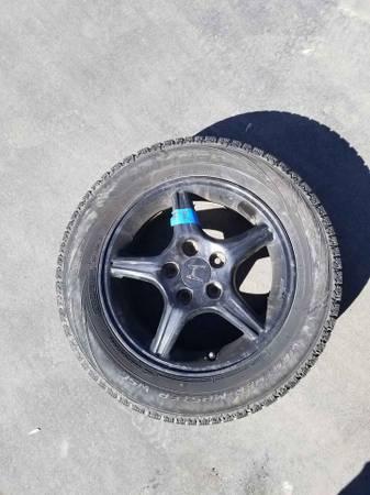 Photo 5x114.3 21560R16 Honda Prelude SH Enkei winter wheels and tires - $200 (DETROIT LAKES)
