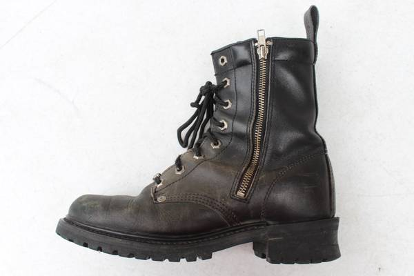 Photo Harley Davidson Mens Leather Boots Size 9 Motorcycle Logger Biker 9102 - $40 (S Fargo)