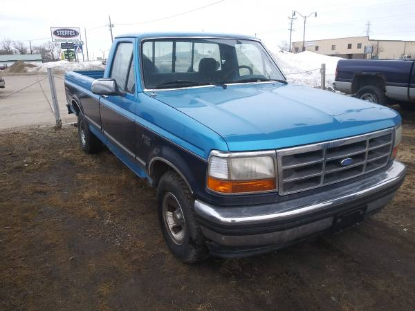 Photo KEEP THE LIGHTS ON SALE 1995 FORD F150 2WD LONGBOX - $900 (1918 E. MAIN AVE, West Fargo 58078)