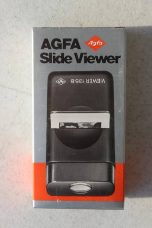 Photo NEW IN BOX AGFA Slide Viewer 135B for 35mm Slides Camera NEW OLD STOCK - $8 (s fargo)