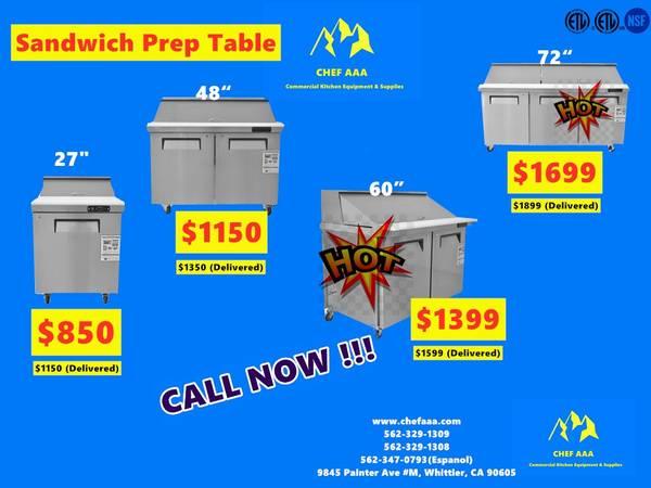 Photo NSF 27486072 Refrigerated Salad Sandwich Prep Table (Restauran - $950 (BRAND NEW)