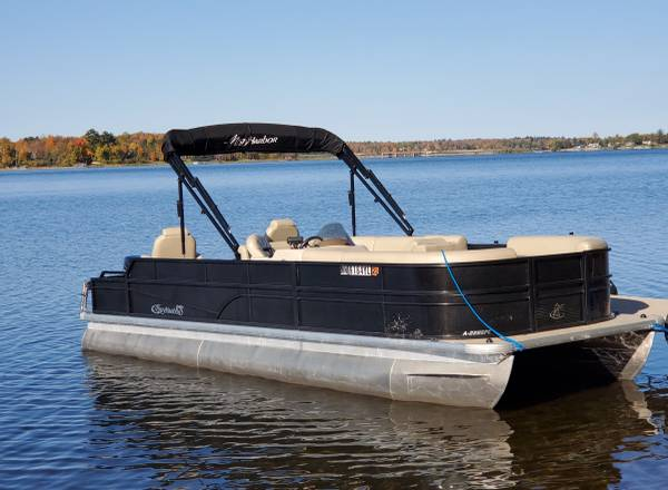 Photo Pontoon Boat Rentals with Deliveries and Pick-Ups for Reasonable Rates (North Central Minnesota)